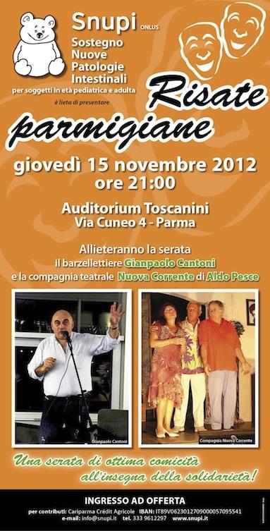 Risate Parmigiane: venite a sorridere con Snupi!