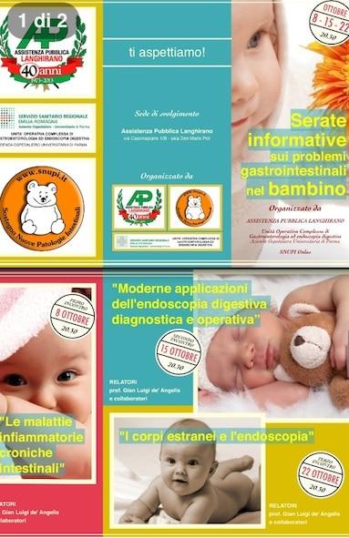 Serate informative sui problemi gastrointestinali nei bambini