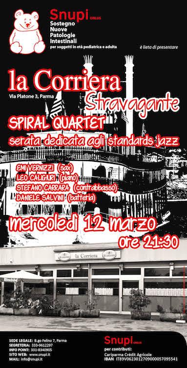 """Spiral Quartet a """"La corriera stravagante"""""""