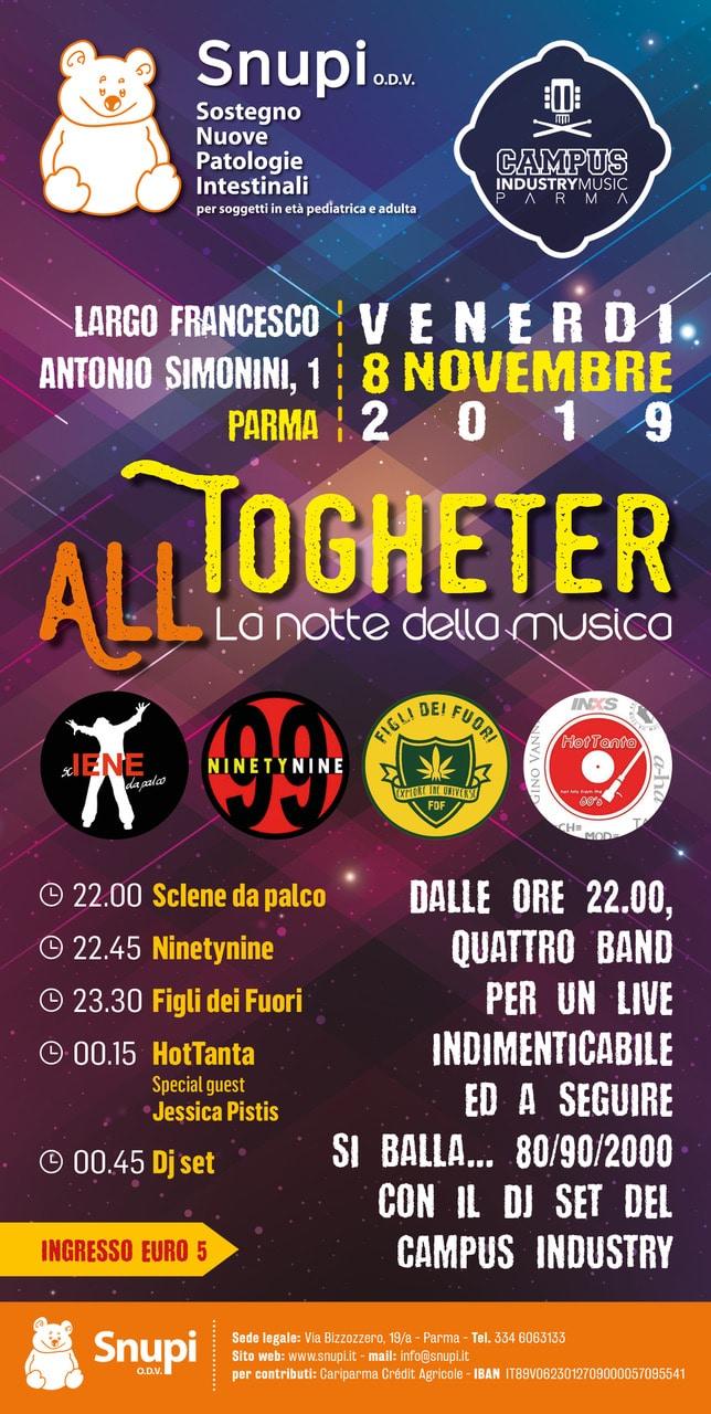 All together: la notte della musica